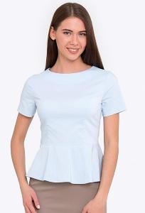 Повседневная блузка с баской Emka b 2207/hadiya