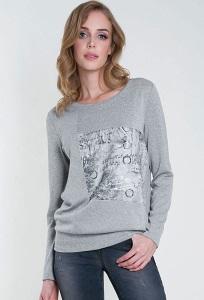 Женская блузка серого цвета Zaps Febe