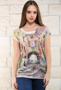 Стильная женская футболка BravISSImo 171123
