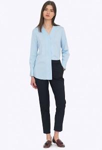 Тёмно-синие женские брюки со средней посадкой Emka D068/malika