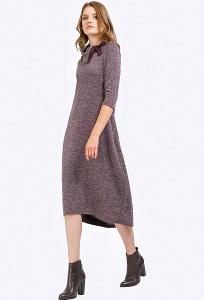Бордовое платье-баллон из трикотажа Emka PL796/edem