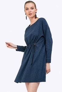 Синее платье в черную полоску Emka PL888/stasya