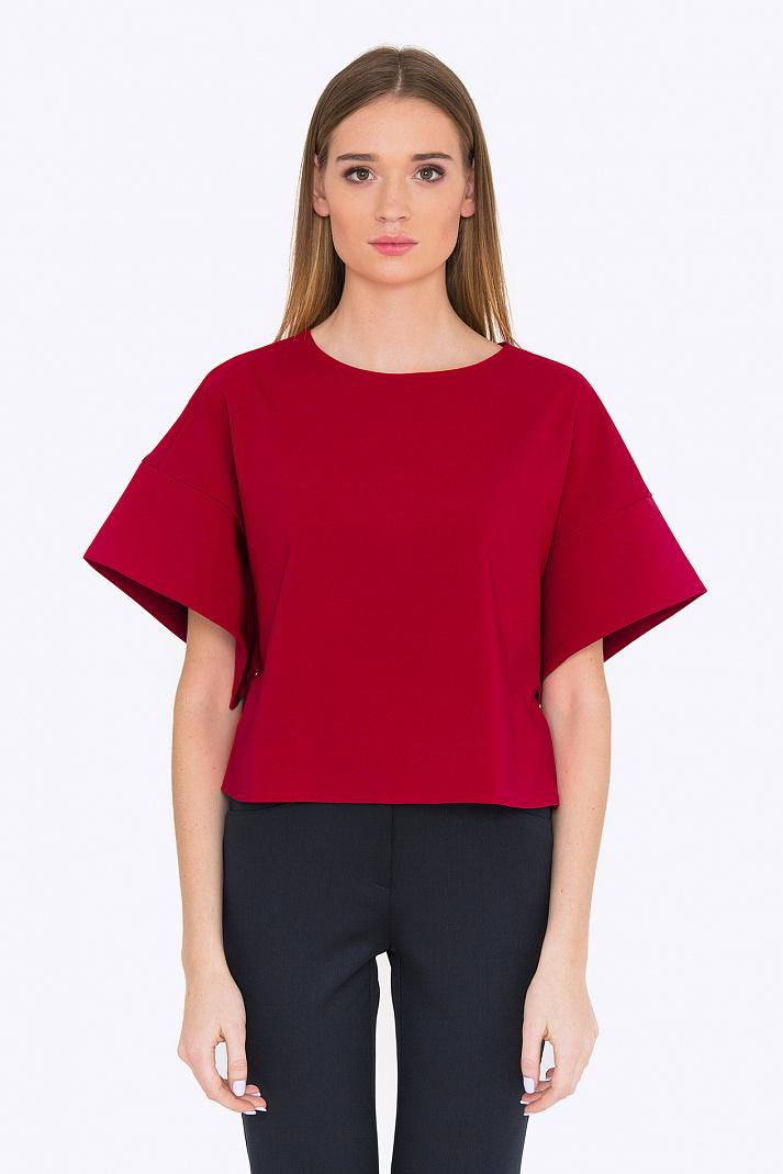 Блузка красного цвета купить