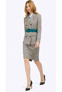 Прямая юбка-миди в офисном стиле Emka S773/marrakesh