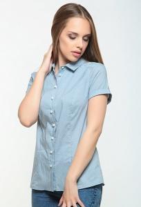 Голубая женская рубашка Bravissimo 162150