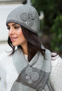 Женский шарф с твидовым рисунком Kamea Silvia