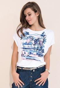 Белая летняя блузка свободного кроя Zaps Safona