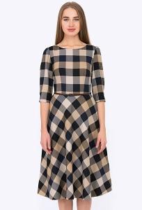 Платье в клетку Emka Fashion PL-407/isidora
