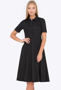 Платье приталенного силуэта с рубашечным воротником Emka PL-572/agrafena