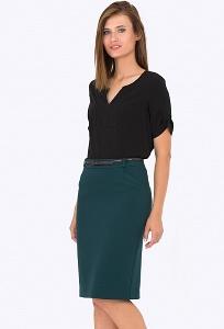 Тёмно-зеленая юбка Emka Fashion 620-drina