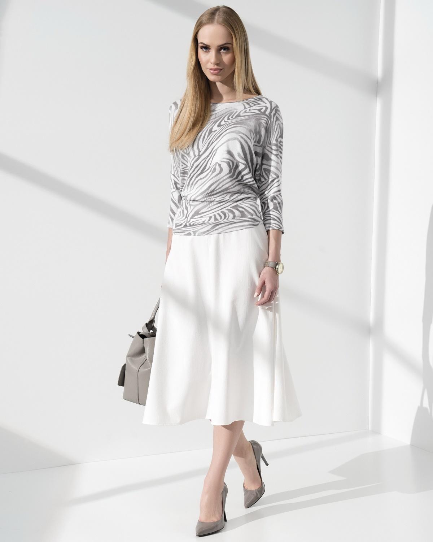 Купить белую длинную юбку