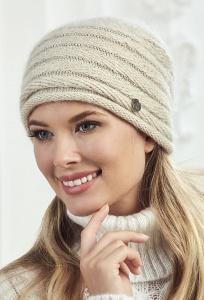 Женская бежевого цвета шапка Landre Агата