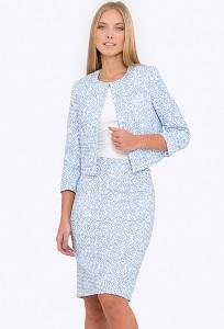 Купить классическую юбку-карандаш из хлопка в интернет-магазине недорого Emka 663-1/trishna