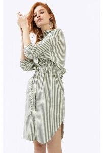 Платье-рубашка в полоску с рукавами 3/4 Emka PL784/yikama