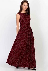 Летнее длинное платье без рукавов Emka PL-425/klevis