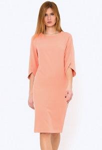Платье прямого кроя с рукавом реглан Emka PL-562/baisi