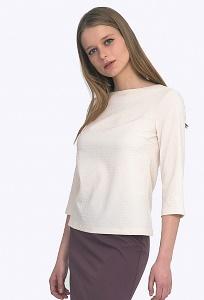 Блузка с рукавом 3/4 из жаккардовой ткани Emka B2204/joy