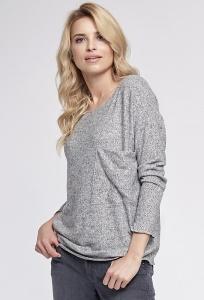 Блузка цвета серый меланж Sunwear O56-5-10