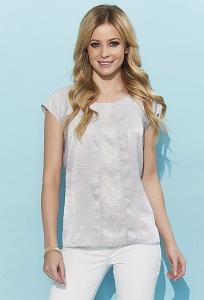 Летняя блузка из серой блестящей ткани Zaps Hiacynta