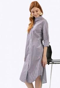 Платье-миди рубашечного кроя в клетку Emka PL601/poema