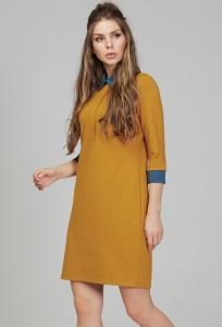Платье с контрастными манжетами и воротничком Donna Saggia DSP-291-5t