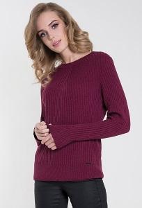 Женский свитер бордового цвета Zaps Atena