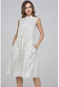 Летнее платье с принтом Лошадки Donna Saggia DSP-327-43