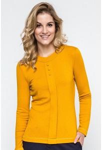 Трикотажная блузка жёлтого цвета Enny 240074