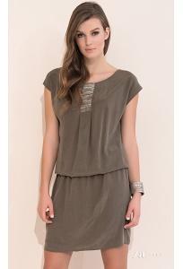 Купить платье свободного кроя коричневого цвета Zaps Agra в интернет-магазине недорого.