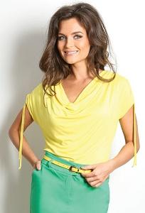 Летняя жёлтая блузка TopDesign A7 042