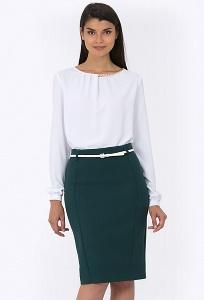 Тёмно-зеленая офисная юбка Emka Fashion 613-drina