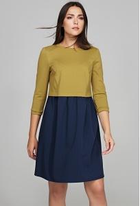 Коктейльное платье из двух тканей Donna Saggia DSP-283-63t