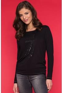 Чёрная трикотажная блузка Zaps Lira