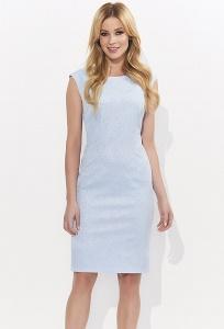 Летнее голубое платье из жаккардовой ткани Zaps Leonora