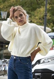 Стильный короткий свитер Fobya F550