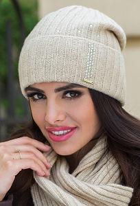 Молодёжная шапка светло-бежевого цвета Kamea Nila.BP