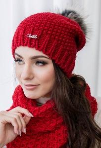 Женская шапка крупной вязки Veilo 32.84
