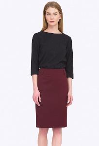 Женская прямая юбка цвета бордо Emka S671/refi