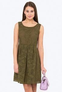 Нарядное платье расклешенное от талии Emka PL-686/jungle