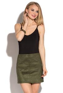Замшевая мини-юбка цвета хаки Donna Saggia DSU-01-12t
