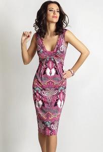 Летнее трикотажное платье TopDesign A6 026