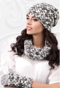 Комплект шапка + снуд + перчатки Kamea Merano