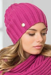 Женская шапка цвета фуксия Landre Токио