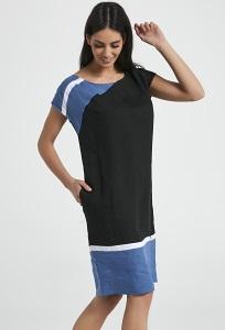 Льняное двухцветное платье на лето Ennywear Enny 250029