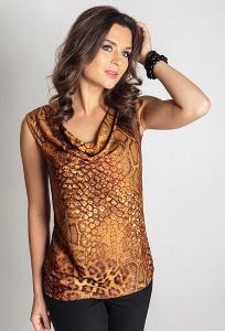 Леопардовая блузка TopDesign A6 122