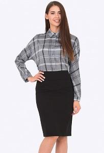 Стильная чёрная юбка 668/milisa
