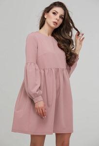 Коктейльное платье пепельно-розового цвета Donna Saggia DSP-282-82