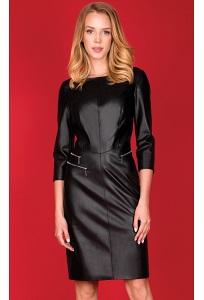 Чёрное кожаное платье Zaps Bossa