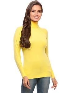 Жёлтая водолазка Conso Wear KWTS160707