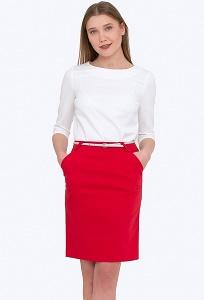 Красная юбка Emka Fashion 682/agota